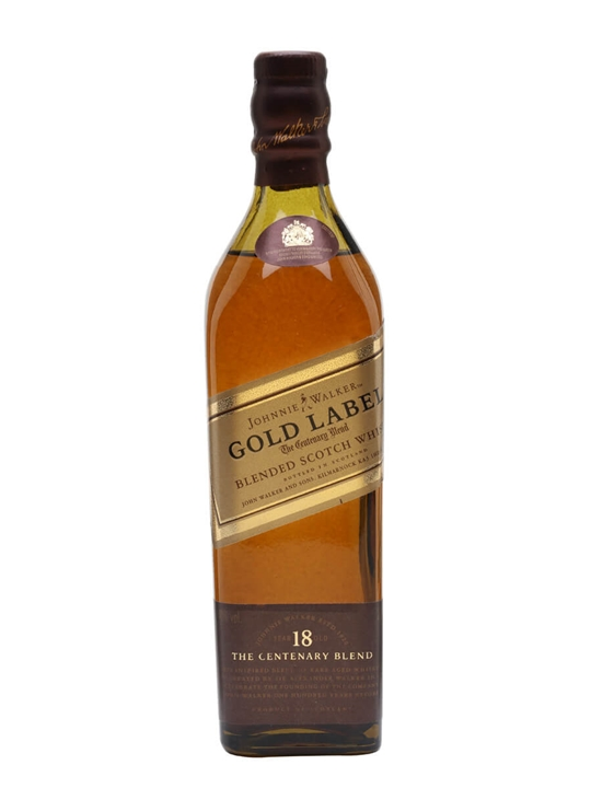 Johnnie Walker 18 Year Old Gold Label / Small Bottle Blended Whisky