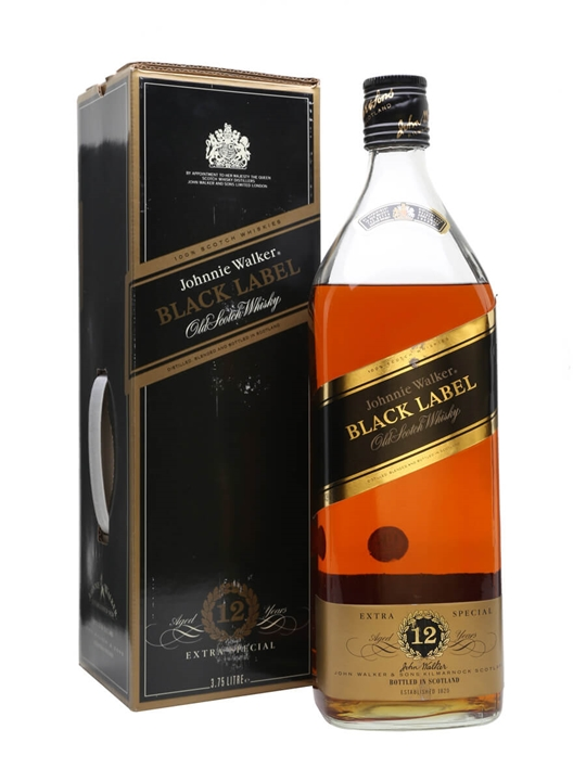 Johnnie Walker Black Label 12 Year Old / Handled Box / 3.75L Blended Whisky