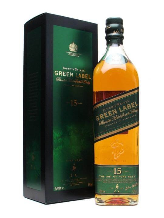 Johnnie Walker Green Label 15 Year Old Blended Scotch Whisky