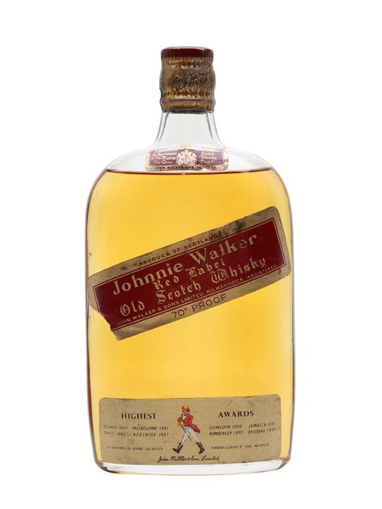 Johnnie Walker Red Label / Bot.1960s / Half Bottle Blended Whisky