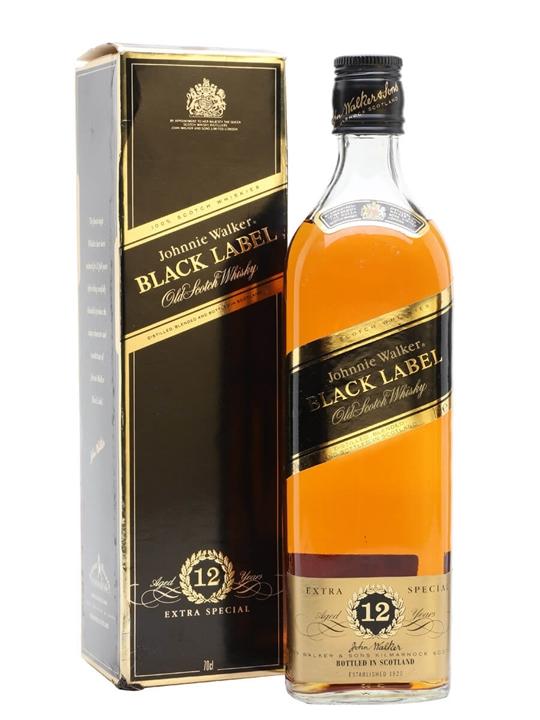 Johnnie Walker 12 Year Old / Black Label / Bot.1980s Blended Whisky