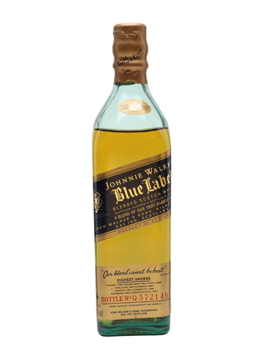 Johnnie Walker Blue Label Quarter Bottle Blended Scotch Whisky