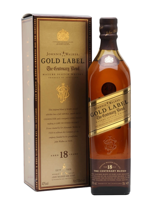Johnnie Walker 18 Year Old / Gold Label Blended Scotch Whisky