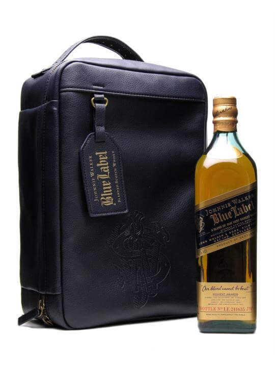 Johnnie Walker  Bill Amberg Blue Label Traveller Bag Blended Whisky
