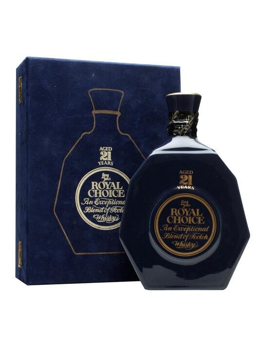 Long John Royal Choice 21 Year Old / Bot 1980s Blended Scotch Whisky