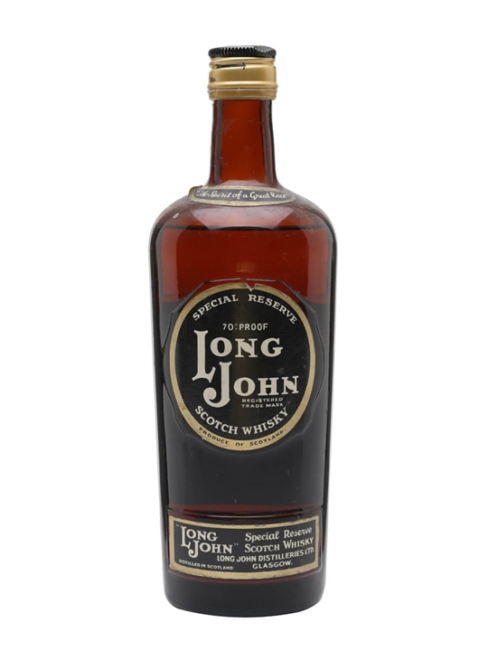 Long John Special Reserve / Bot.1960s Blended Scotch Whisky