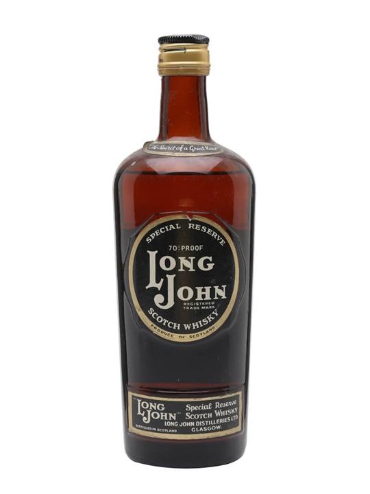 Long John Special Reserve / Bot.1960s Blended Scotch Whisky