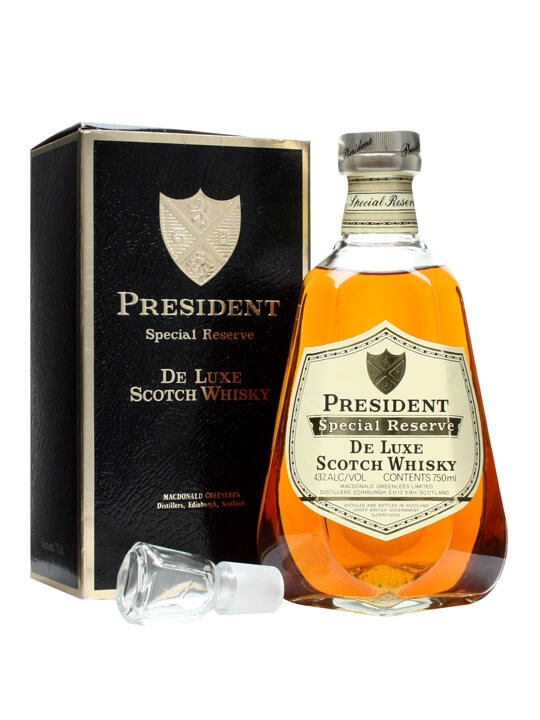 President Special Reserve Whisky / Bot.1980s Blended Scotch Whisky