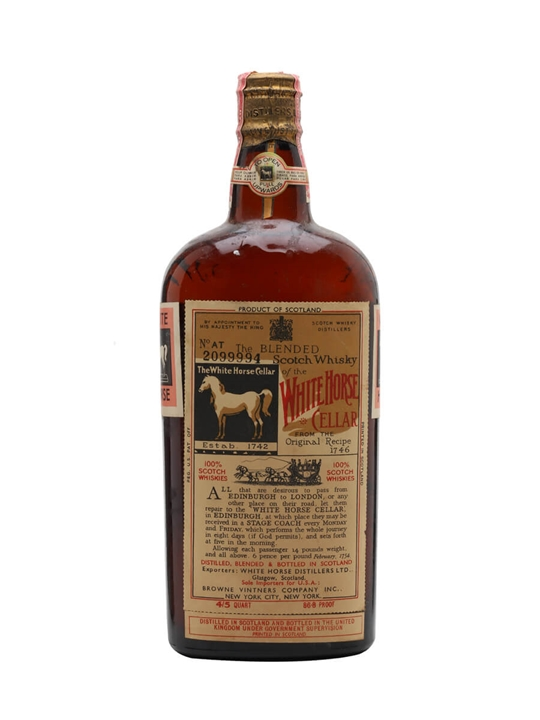 White Horse / Bot.1950s / Spring Cap Blended Scotch Whisky