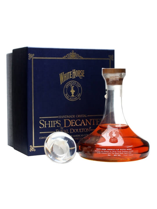 White Horse America's Cup 1987 Decanter Blended Scotch Whisky