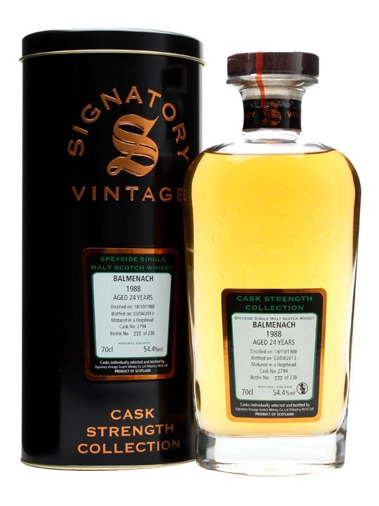 Balmenach 1988 / 24 Year Old / Cask #2794 / Signatory Speyside Whisky