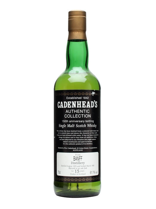 Banff 1976 / 15 Year Old / Cadenhead's Speyside Whisky