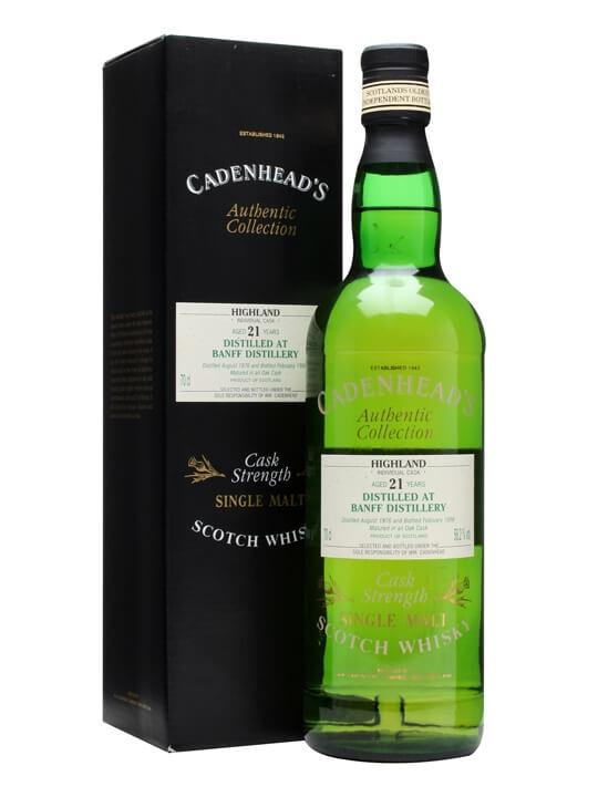 Banff 1976 / 21 Year Old / Cadenhead's Speyside Whisky