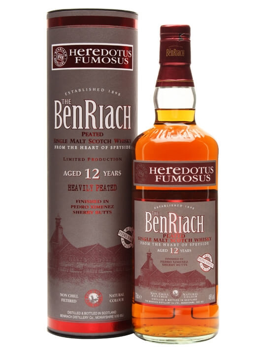 Benriach 12 Year Old Heredotus Fumosus / Peated Speyside Whisky