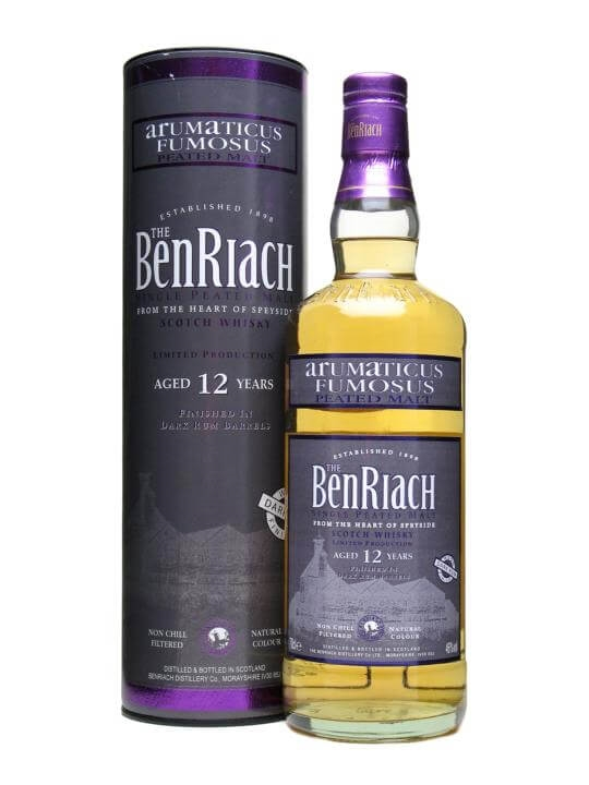 Benriach 12 Year Old Arumaticus Fumosus / Peated / Dark Rum Cask Speyside Whisky