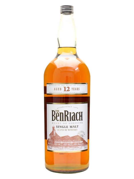 Benriach 12 Year Old / Large Bottle Speyside Single Malt Scotch Whisky