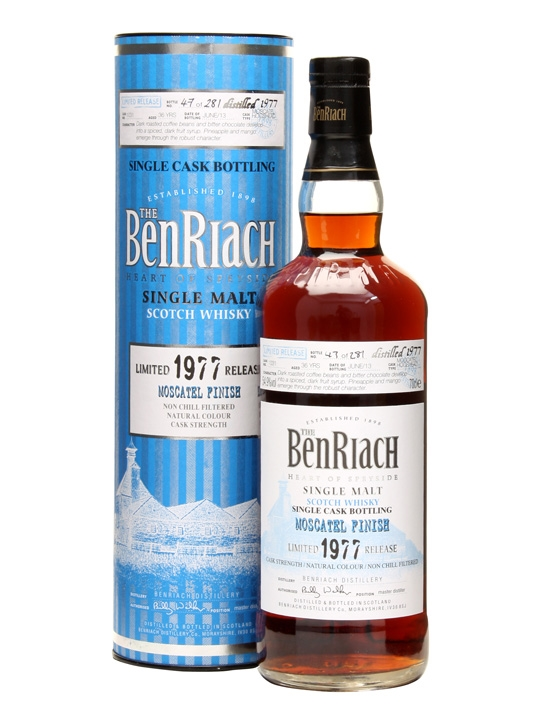 Benriach 1977 / 36 Year Old / Moscatel Finish / Cask #1031 Speyside Whisky