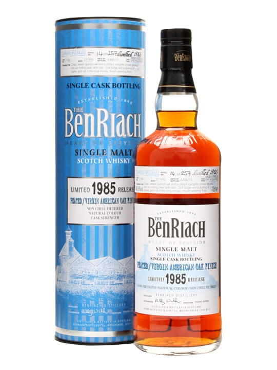 Benriach 1985 / 27 Year Old / Peated Virgin Oak Finish #7188 Speyside Whisky