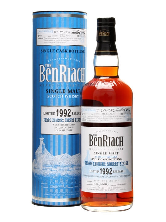 Benriach 1992 / 21 Year Old / Px Hogshead Finish / Cask#986 Speyside Whisky
