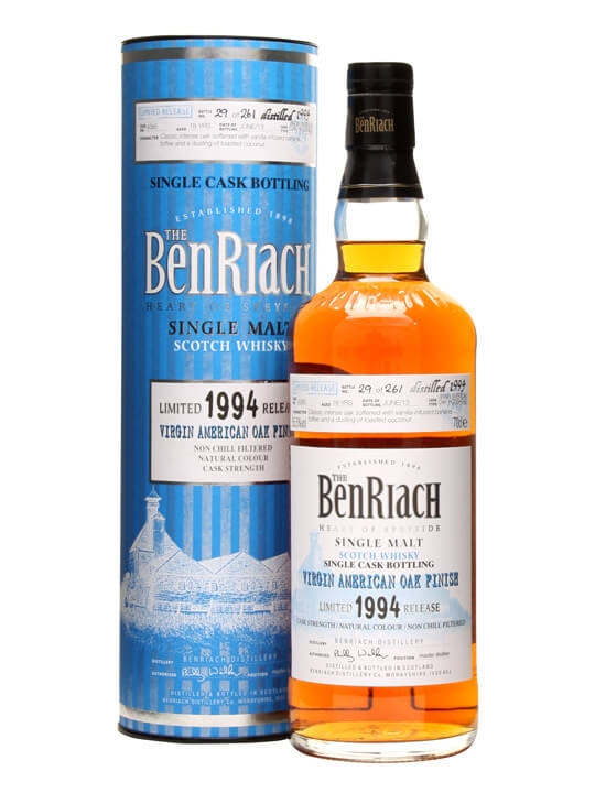 Benriach 1994 / 18 Year Old / Virgin Oak Finish / Cask #4385 Speyside Whisky