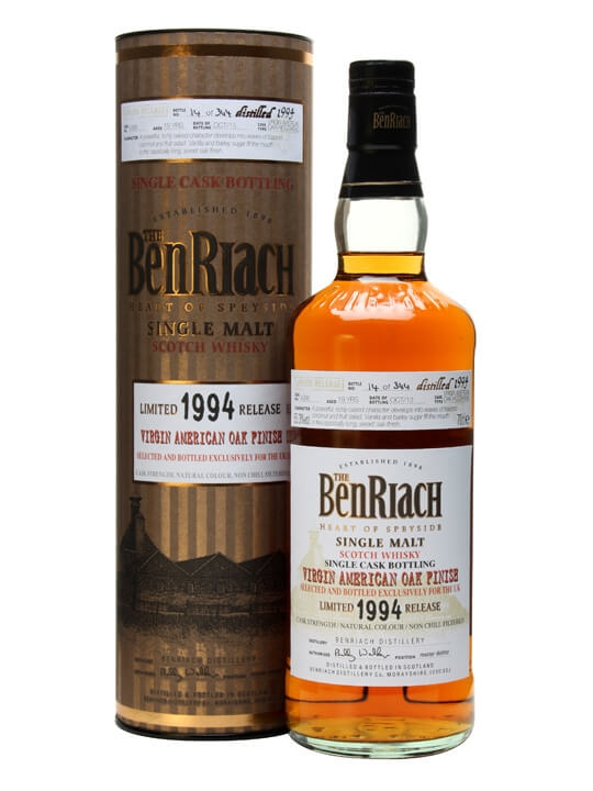 Benriach 1994 / 19 Year Old / Virgin Oak Finish #4386 Speyside Whisky