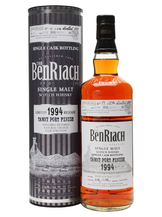 Benriach 1994 / 20 Year Old / Tawny Port Finish / Cask #1703 Speyside Whisky