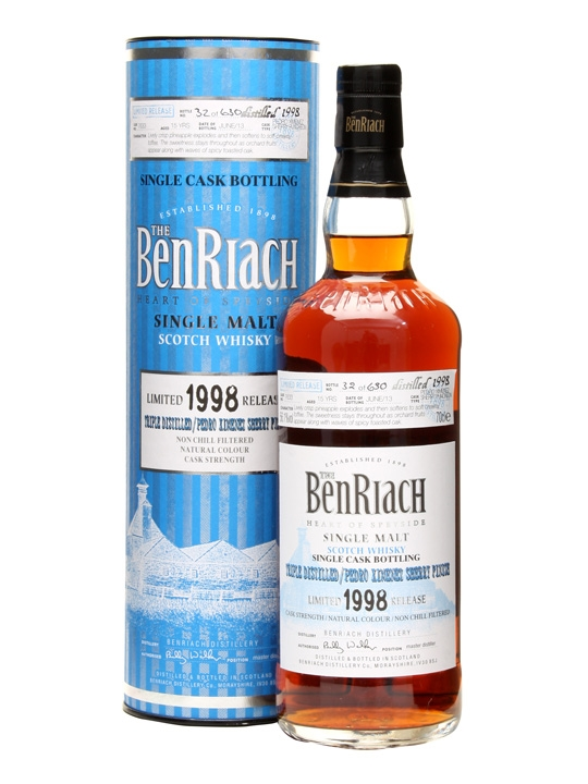 Benriach 1998 / 15 Year Old / Triple Distilled / Px Finish Speyside Whisky