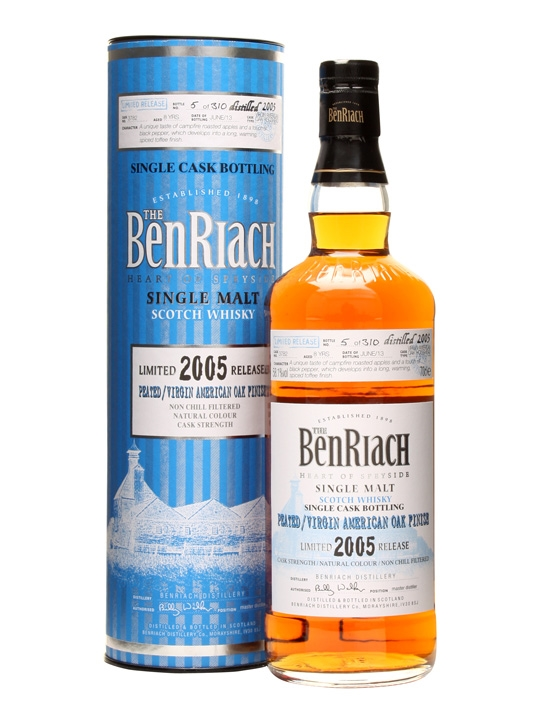 Benriach 2005 / 8 Year Old / Peated Virgin Oak / Cask #3782 Speyside Whisky