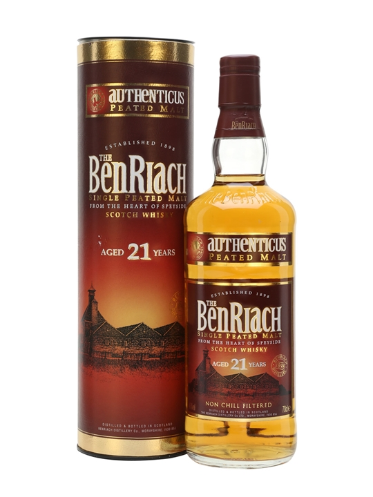 Benriach 21 Year Old / Authenticus Peated Malt Speyside Whisky