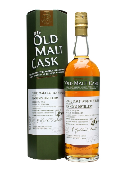 Ben Nevis 1966 / 46 Year Old / Old Malt Cask #9511 Highland Whisky