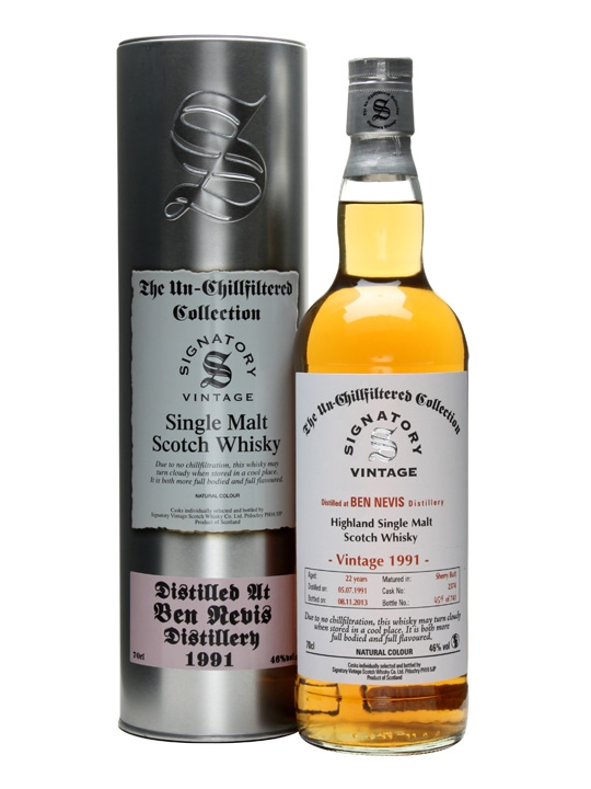Ben Nevis 1991 / 22 Year Old / Sherry Butt #2374 / Signatory Highland Whisky