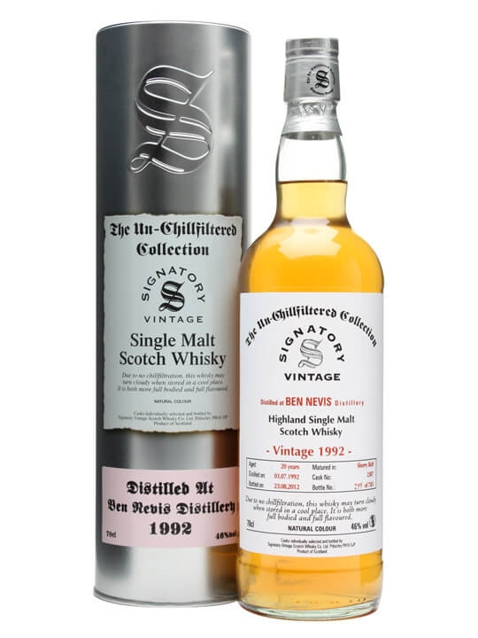 Ben Nevis 1992 / 20 Year Old / Sherry Butt #2307 / Signatory Highland Whisky
