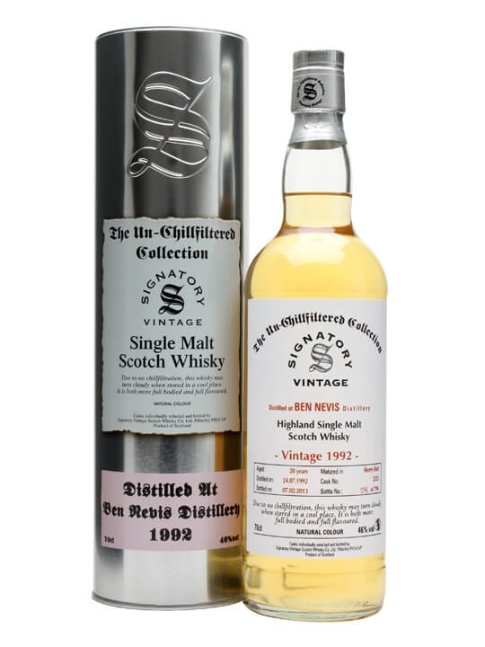 Ben Nevis 1992 / 20 Year Old / Sherry Butt #2525 Highland Whisky