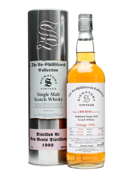 Ben Nevis 1992 / 20 Year Old / Sherry Butt #2308 / Signatory Highland Whisky
