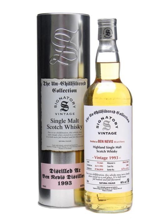 Ben Nevis 1993 / 16 Year Old / Sherry Butt/ Un-chillfiltered Highland Whisky