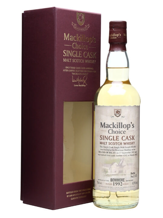 Bowmore 1992 / 19 Year Old / Cask #4192 / Mackillop's Choice Islay Whisky
