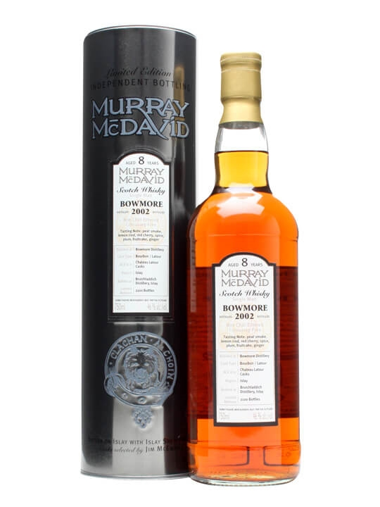 Bowmore 2002 / 8 Year Old / Latour Finish / Murray Mcdavid Islay Whisky