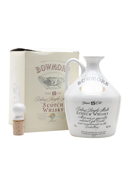 Bowmore 15 Year Old / 1988 Glasgow Garden Ceramic Islay Whisky
