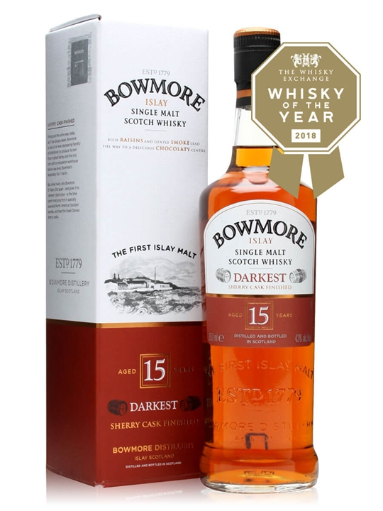 Bowmore 15 Year Old / Darkest / Half Bottle Islay Whisky