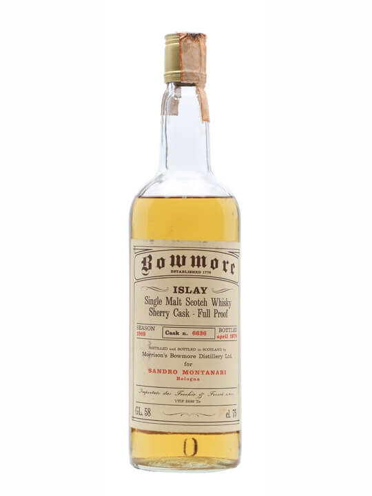 Bowmore 1969 / Bot.1978 / Sherry Cask #6636 Islay Whisky