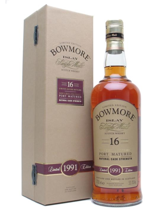 Bowmore 1991 / 16 Year Old / Port Matured Islay Whisky