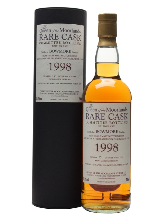 Bowmore 1998 / 10 Year Old / Cask #353 Islay Single Malt Scotch Whisky