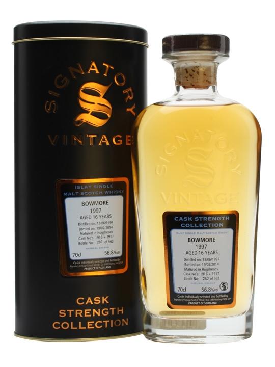 Bowmore 1997 / 16 Year Old / Signatory Islay Single Malt Scotch Whisky
