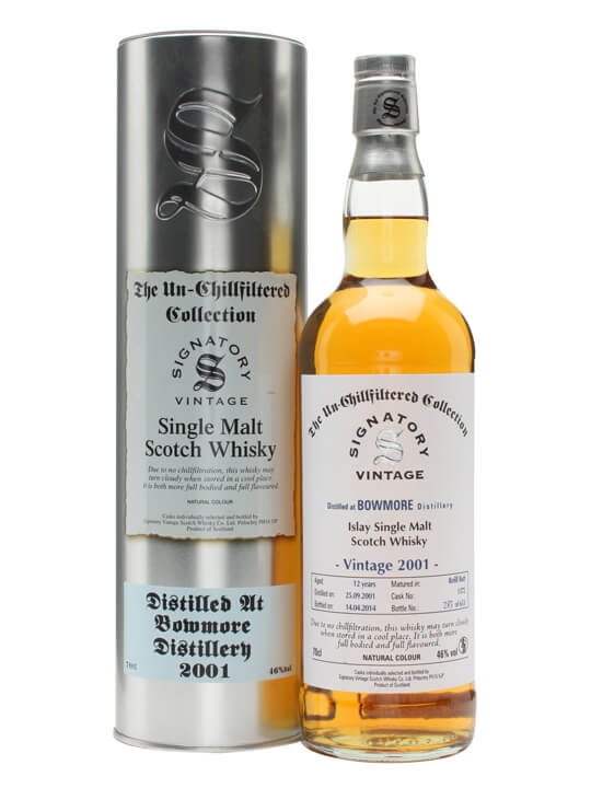 Bowmore 2001 / 12 Year Old / Signatory Islay Single Malt Scotch Whisky