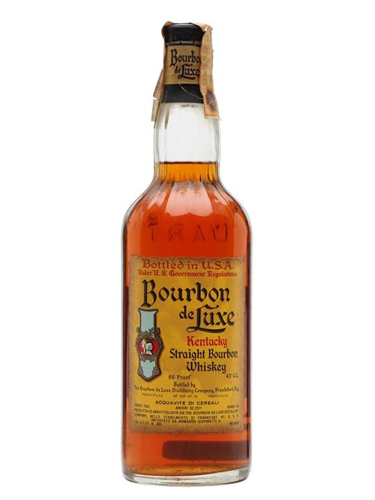 Bourbon De Luxe / Bot.1970s Kentucky Straight Bourbon Whiskey