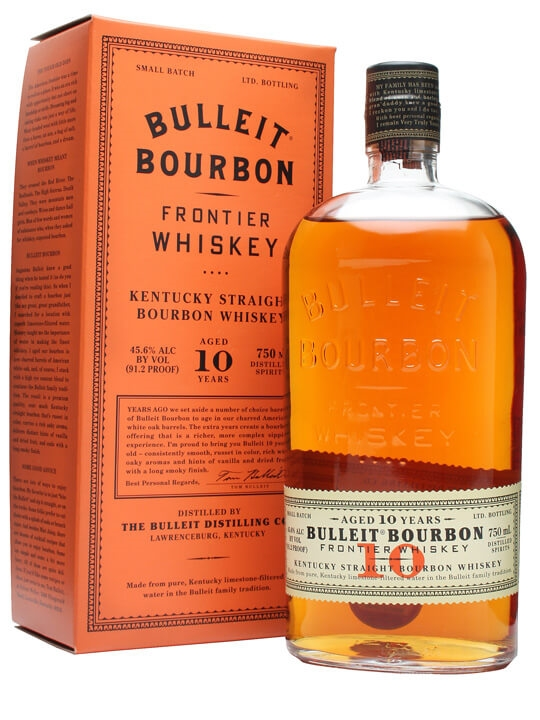 Bulleit 10 Year Old Bourbon Kentucky Straight Bourbon Whiskey