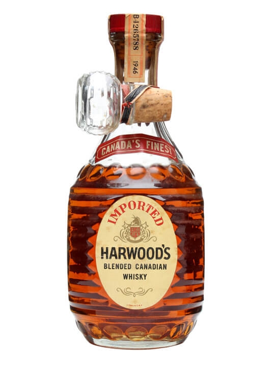 Harwood's Blended Canadian Whisky / Bot.1940s Canadian Blended Whisky