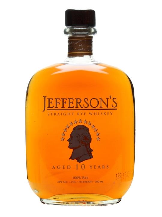 Jefferson's Straight Rye Whiskey / 10 Year Old Straight Rye Whiskey