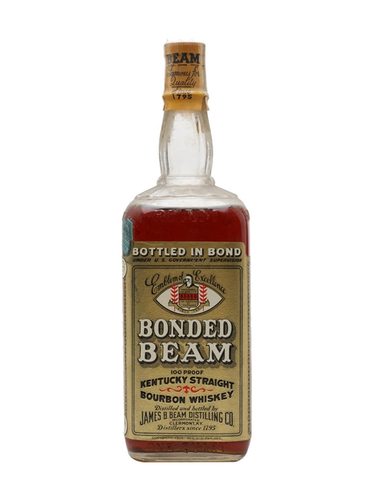 Bonded Beam / Bot.1943 / Large Bottle Kentucky Stright Bourbon Whiskey