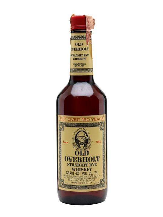 Old Overholt Straight Rye Whiskey / Bot.1980s